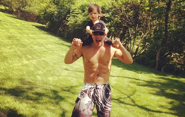 Nick Lachey & Son Camden Pose for Cute Family Photos -- See How Big He's Gotten!