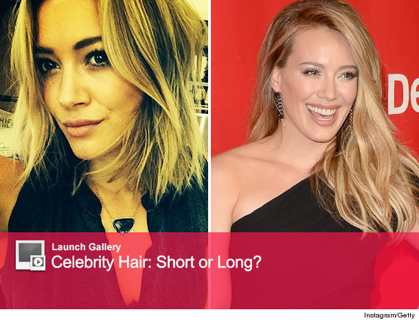 Hilary Duff Cuts Hair