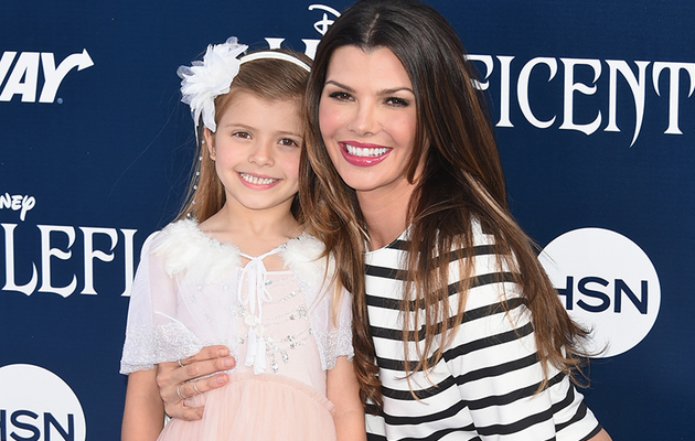 "Ali Landry and Mini-Me Daughter Estela Attend ""Maleficent"" Premiere"