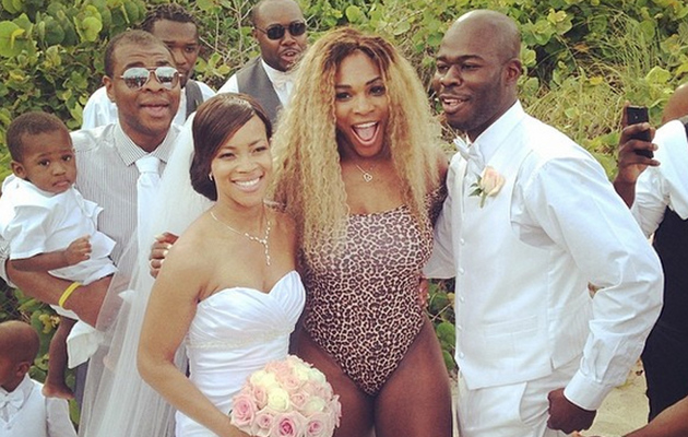 Serena Williams Crashes Wedding in a Leopard Swimsuit -- See the Pics!