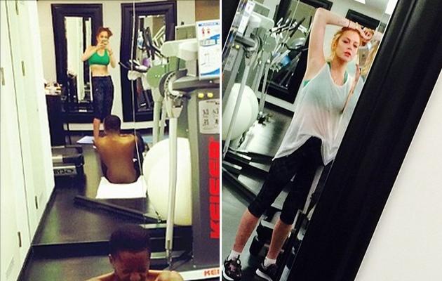 Lindsay Lohan Shows Off Tiny Waist in New Gym Selfie!