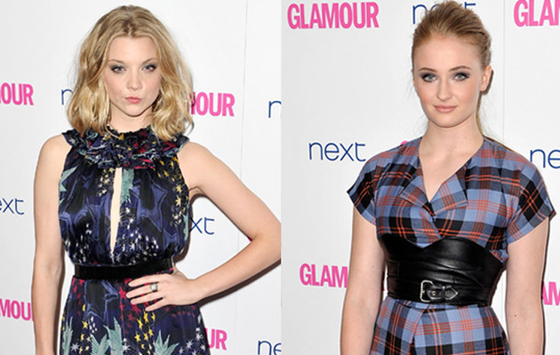 """""""Game of Thrones'"""" Natalie Dormer & Sophie Turner Stun at Glamour Women of the Year…"""
