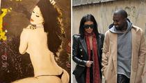 Kanye West and Kim Kardashian -- Topless Kim Wedding Painting Wasn't Our Idea