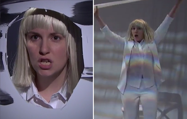 "Lena Dunham Performs Hilarious Dance To Sia's ""Chandelier"" -- See The Video!"