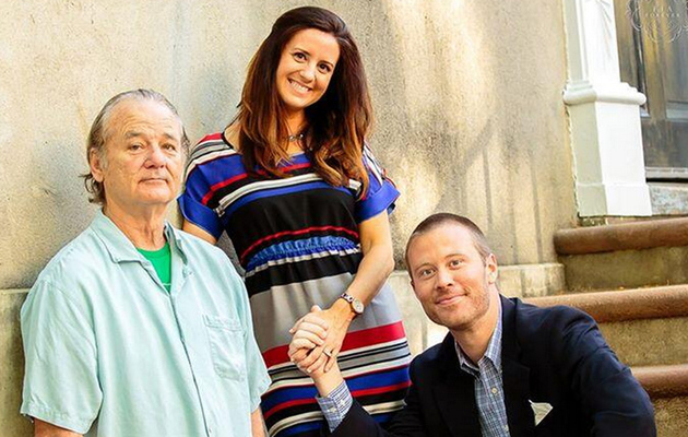 Bill Murray Crashes Couple's Engagement Photo Shoot -- See the Funny Pic!
