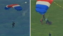 George H. W. Bush -- SKYDIVES for His 90th Birthday!