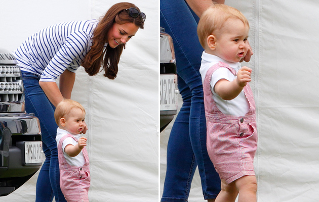 Prince George Walks at Prince William's Polo Match -- See the Pics!