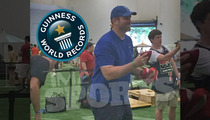 Ex-Patriots Star Matt Light -- CORNHOLES WAY INTO RECORD BOOKS