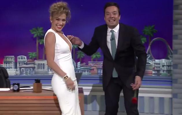 Video: Jimmy Fallon Dances With Jennifer Lopez, Jennifer Lawrence Is Still Waiting!