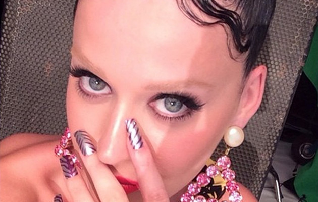 Katy Perry Posts New Pic With Bleached Eyebrows