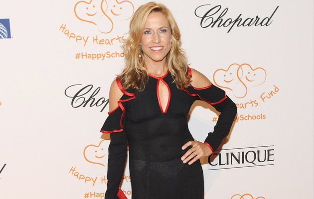 Sheryl Crow Flashes White Panties Under Sheer Black Dress