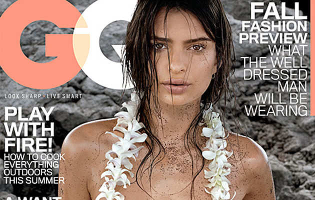 """Blurred Lines"" Video Vixen Emily Ratajkowski Covers GQ Topless"