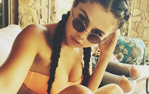 "Selena Gomez Shares Sexy Bikini Selfie, Calls Herself ""Brave"""