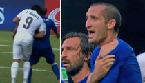Luis Suárez BITES Giorgio Chiellini -- World Cup 2014: Uruguay Vs Italy (VIDEO)