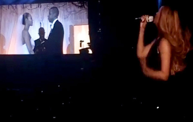 "Beyonce and Jay Z Share Never-Before-Seen Wedding Footage During ""On the Run"" Tour"