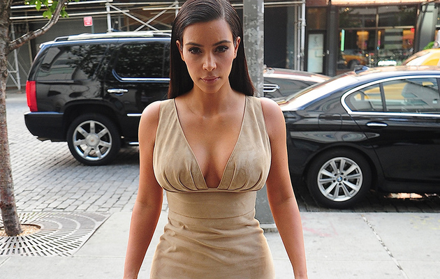Kim Kardashian Goes Back to Brunette ... and Shows Off Her Cleavage!