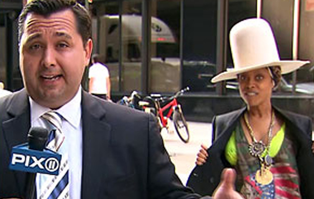 Erykah Badu Tries to Kiss a Reporter on Live TV -- Watch Now!