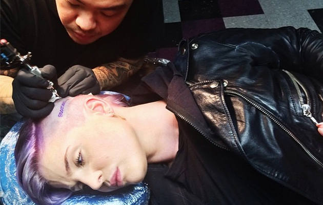 Kelly Osbourne Gets Super Random Head Tattoo -- Check It Out!