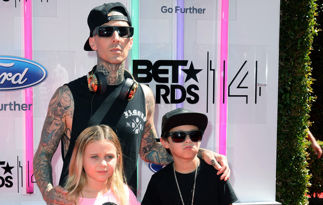 Travis Barker Brings His Kids to BET Awards -- See How Big They Are!