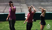 Lance Bass -- Touchdown Dance Training ... With Detroit Lions Star