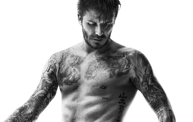 David Beckham Is Scruffy, Sweaty & Shirtless In New H&M Campaign