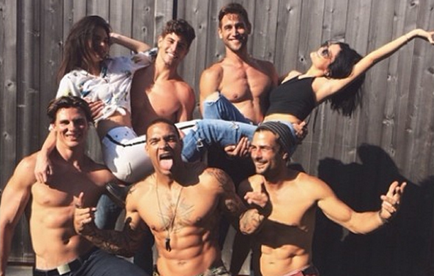 Kendall and Kylie Jenner Pose with Shirtless Male Models -- See the Sexy Pics!