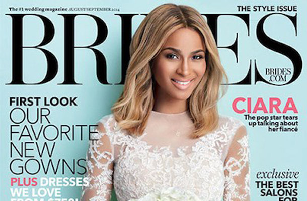 Ciara Wears Gorgeous Gowns in Brides, Reveals Wedding Details