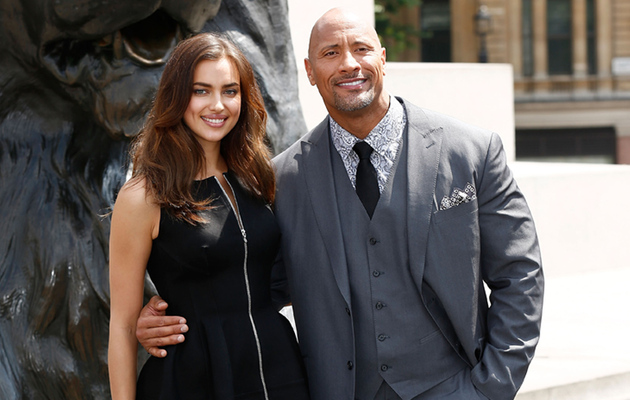 "Irina Shayk and The Rock Kick Off ""Hercules"" Press Tour in Style"