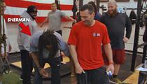 Richard Sherman -- Insane Leg Muscle ... Blows NFL Star's Mind!!!