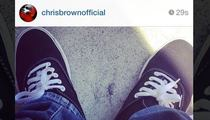 Chris Brown -- Reppin' Bloods on Instagram Now