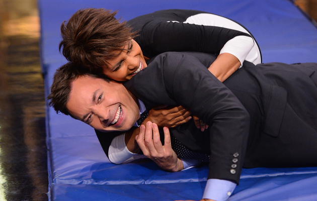 Watch Halle Berry Make a Human Hamster Wheel with Jimmy Fallon!