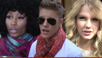 Justin Bieber, Nicki Minaj & Taylor Swift -- Smells Like a Rip-Off ... Perfume Co. Sues Over Celeb Fragrances