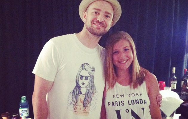 Mini *NSYNC Reunion! Joey Fatone's Daughter Poses with Justin Timberlake