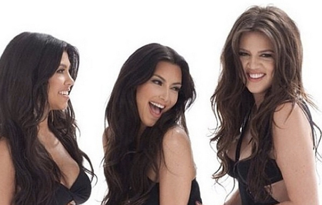 Kourtney, Kim & Khloe Kardashian Flaunt Famous Booties in Flashback Photo