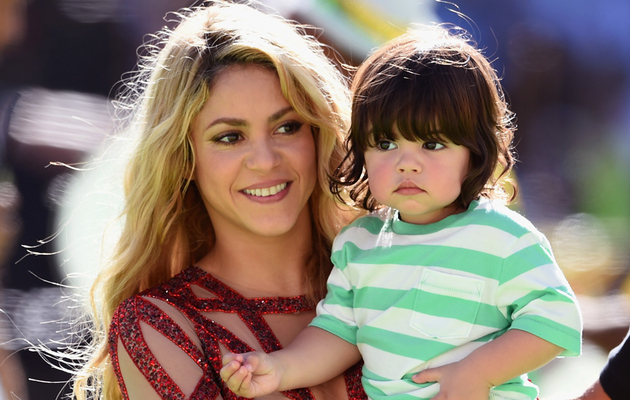 Shakira Brings Son Milan to World Cup Final Closing Ceremony