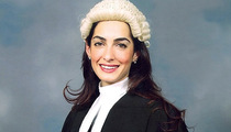 George Clooney's Fiancee Amal Alamuddin -- Wigs Out During Law School Graduation