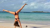 Gisele -- Upside Down Splits ... In a Bikini