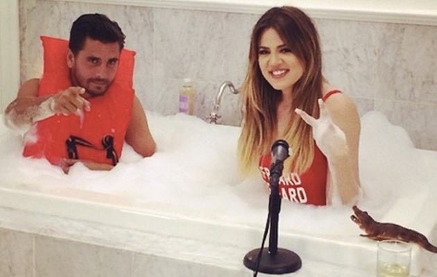 Khloe Kardashian Takes a Bubble Bath With Scott Disick -- See the Pic!
