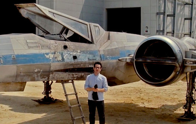 "J.J. Abrams Reveals X-Wing in ""Star Wars: Episode VII"" -- See the Video!"