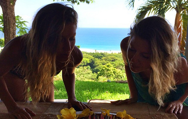 Gisele Bundchen and Twin Sister Patricia Celebrate 34th Birthday at the Beach