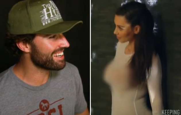 [Video] Brody Jenner Sees Kim Kardashian Nearly Naked, Gets Turned On!
