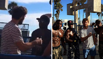 Alex Pettyfer -- Busted by Muscle Beach Freaks ... Of Nature
