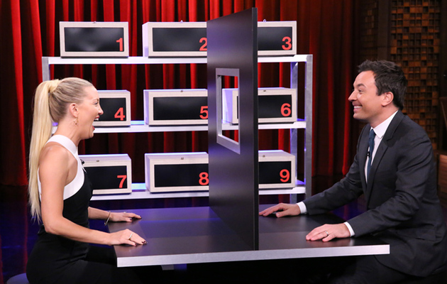 "Kate Hudson and Jimmy Fallon Play ""Box of Lies"" -- Find Out Who Won!"