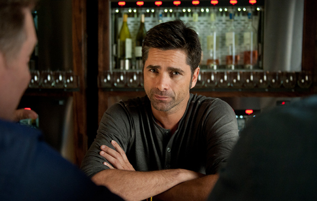 "John Stamos Gives His Buddies Cuddle Lessons in ""My Man Is A Loser"""