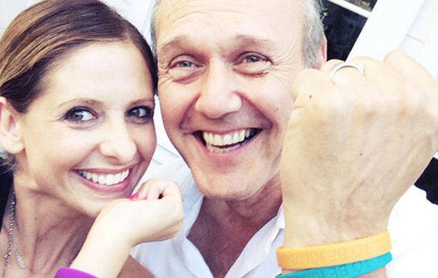 "Sarah Michelle Gellar Has a Mini ""Buffy"" Reunion with Giles"