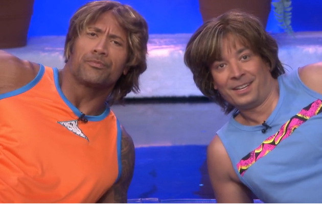Jimmy Fallon & The Rock Re-Create Hilarious '80s Fitness Video!