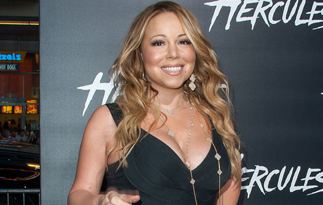 "Mariah Carey Flaunts Major Cleavage, Lots of Leg at ""Hercules"" Premiere"