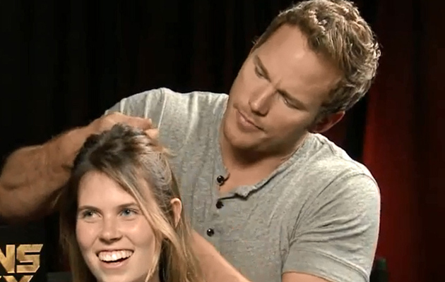 Chris Pratt French Braids Intern's Hair During Interview