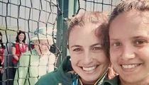 Queen Elizabeth -- ROYAL PHOTOBOMB ... At Women's Field Hockey Tourney