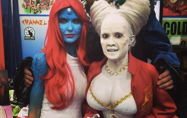 "Audrina Patridge Paints Body Blue as ""X-Men's"" Mystique For Comic-Con"